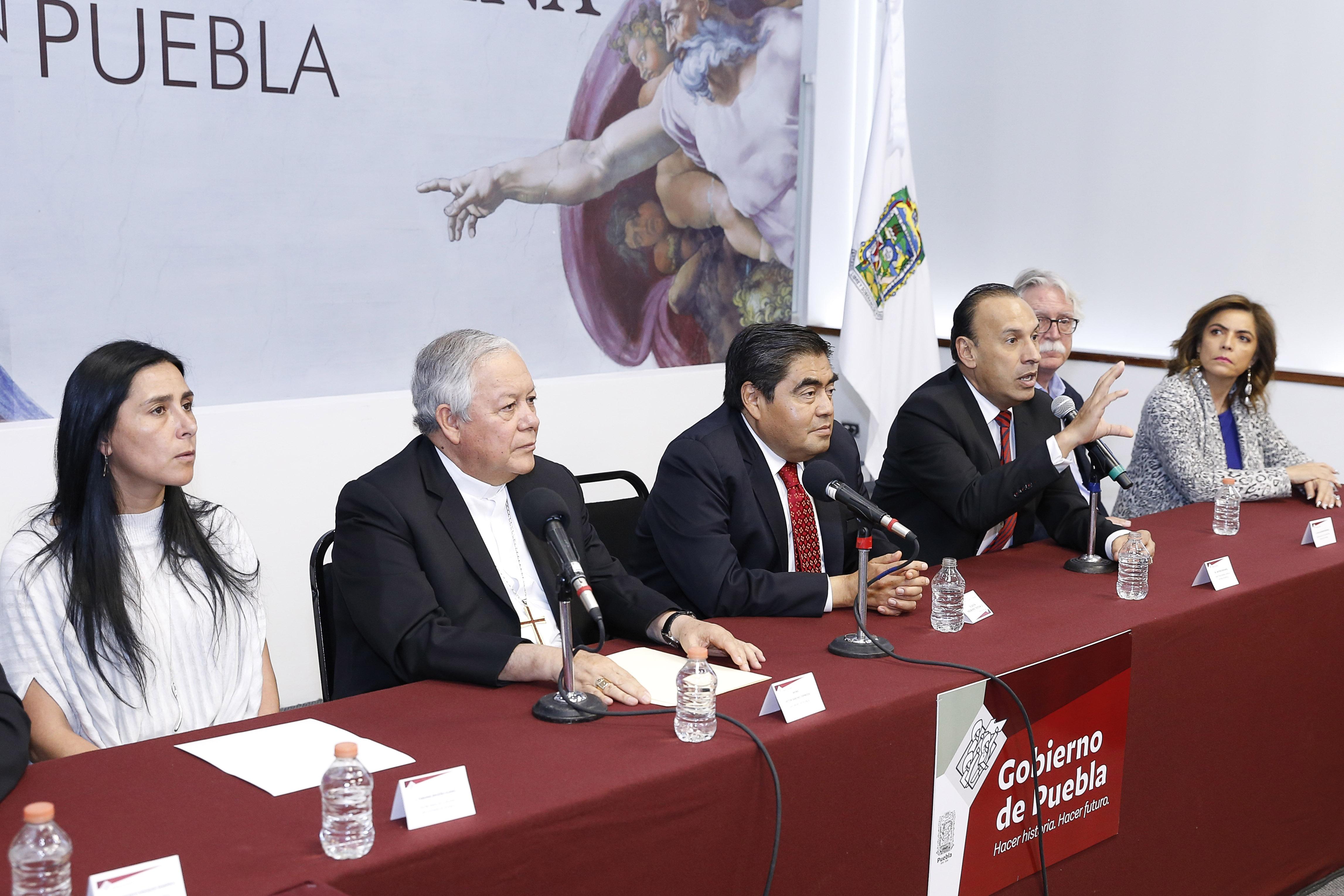 Así se anunció la llegada de la réplica de la Capilla Sixtina.